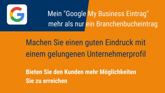 Google My Business Angebot